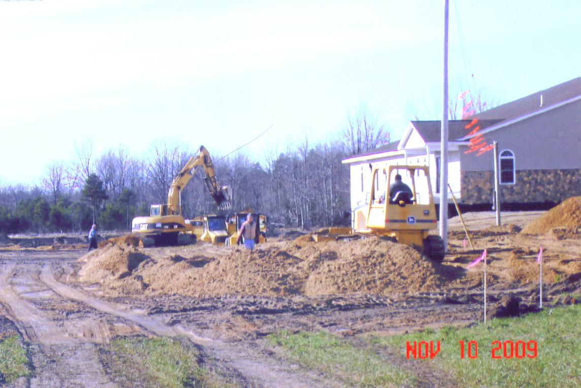November 2009 moving dirt